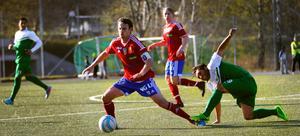 Andreas Bellander i aktion under årets match mot Konyaspor.