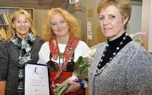 Rättviks kommuns affärsrådgivare Mary Holmquist, Slars Lisa Jöneberg och W7 Dalarnas Camilla Hillbom. Foto: Christer Klockarås/DT