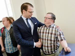 Mats Melin fick sig en pratstund med prins Daniel.