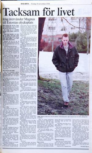 Intervju med Magnus Lindström från 1994.