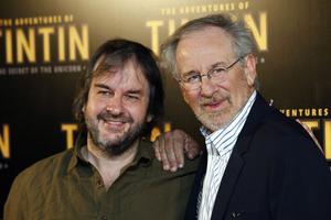 Steven Spielberg, till höger, slog sig ihop med Peter Jackson för att genomföra Tintin-projektet.