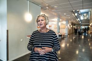 Rektorn Annelie Aleson tog beslutet att ingen elev på skolan får ta med sig lånedatorn hem.