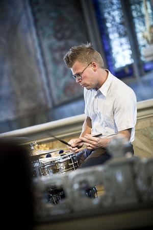 Johan R. Löfcrantz spelade med inlevelse och gestaltade jazzen i varje ansiktsdrag.