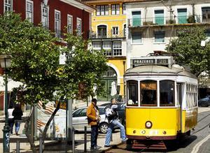Utsikt över Lissabon från en av stadens många utsiktsplatser.