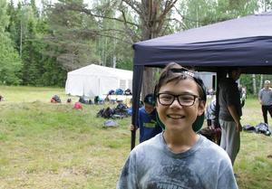 Viktor Segebo, 10 år, var med under fjolåret och han var jätteglad över att få vara med på sommarlägret.