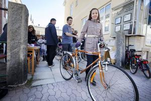 Cykelbytardagen är bra för både miljö och plånbok, tyckte Greta Arvidsson som fick ge 700 kronor för sin herrmodell.