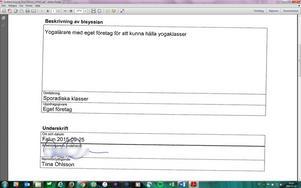 Tiina Ohlssons underskrift daterad den 25/9 2015.