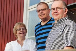 Arrangörerna Maj-Britt Borwall, Lennart Nordqvist och Håkan Borwall.
