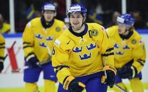Filip Forsberg utsågs till matchens lirare när Sverige besegrade Schweiz med 5–3. Foto: LUDVIG THUNMAN/TT