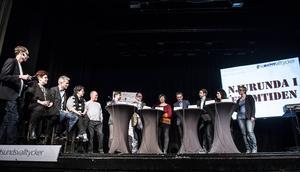 Sundsvalls Tidnings nyhetschef Oskar Nord ledde debatten med Njurundabor och politiker från åtta partier i Opalen, Njurunda.