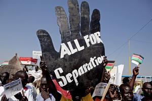Vill skiljas. Imorgon röstar södra Sudan med största sannolikhet för självständighet. foto: scanpix