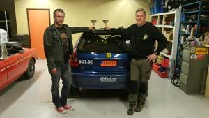 Mats Larsson och Mikael Johansson körde in på en tredjeplats i Rally Gimmersta.