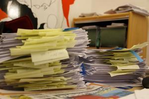 En del av de dokument som ligger till grund för Arbetarbladets granskning.
