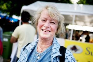 Berit Sihlien, 56 år, Gävle, städerska  – Jag är vegetarian och jag tycker att den grillade haloumin var väldigt god.