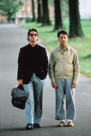 "Originalen. Tom Cruise och Dustin Hoffman i ""Rain Man"" från 1988."