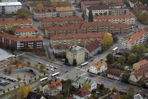 Olyckan inträffade i korsningen Vasagatan och Norra Ringvägen. Arkivbild.