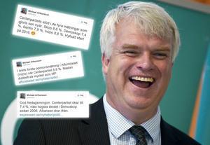 Michael Arthursson, partisekreterare i Centerpartiet beskriver sig själv som: Sexbarnspappa. Hallänning. Existensialist.