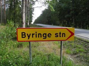 Slutstation: För de 48 kronor biljetten kostade kom Allan Karlsson till hållplatsen vid Byringe station.