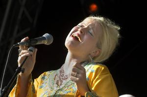 Lindha Kallerdahl är en av artisterna som kan ta hem priset för årets jazz på Manifestgalan. Arkivbild   Foto: Leif R Jansson / TT /