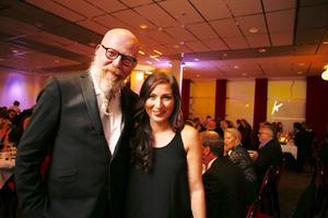 Daniel Nordström och Nora Nergiz Westerbergh från VLT var på festen.