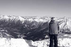 Högre upp än alla andra! Bild fotograferat i Alperna, Österrike under sportlovet 2011.