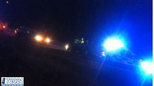 Olyckan skedde strax efter klockan 23 på lördagskvällen.