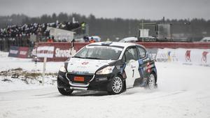Elias Lundberg, Sala MK, rattade säkert runt på SM-banan i Söderhamn.