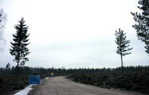 Infrastrukturen byggs i Noret Norra intill E45.
