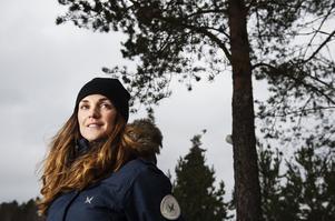 Johanna Ojala jobbar för SVT med vintersport.