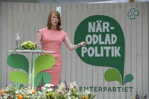 Centerledaren Annie Lööf talade under sista dagen av Almedalsveckan.