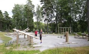Sommartid lockar motionsspår och utegym många till Tvetaområdet.