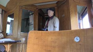 På stol 14 i restaurangvagnen satt Gustav V på invigningen av Ostkustbanan 1927