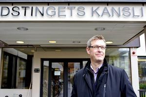 Erik Lövgren, tillförordnat landstingsråd efter sparkade Elisabet Strömqvist.