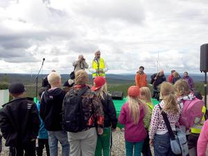 Ungefär 260 personer kom när en av länets större vindkraftparker invigdes.