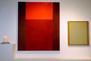Den större målningen heter Umiak och är målad med äggoljetempera på duk och den mindre målningen heter Liten spegel.