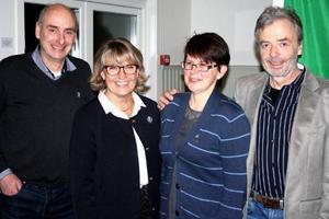 De fyra toppnamnen för C i Krokoms kommun inför valet i höst. Från vänster Hans Åsling från Trångsviken, Maria Söderberg från Rödön, Karin Wallén från Valne och Gunnar Hellström från Aspås.