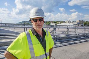 Mats Lögdal, projektledare på Trafikverket berättade om arbetet som pågår