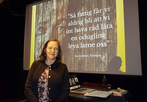 Annelie Bränström Öhman berättade lenade om Sara Lidman.