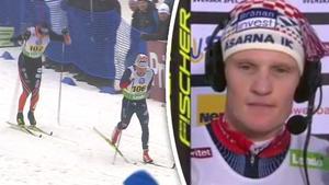 Jens Burman och Åsarna blev tvåa efter att Oskar Svensson lurat i rygg inför spurten.