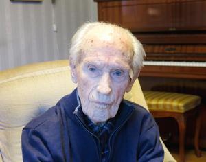 Egon Sundberg, 104 år.