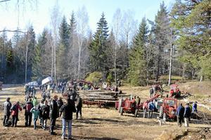 Så många besökare har det aldrig tidigare varit i skogarna vid Högalund.