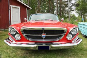 En av bilarna från Wolfman Cruisers som skjutsade intresserade ut till Kolsätt.