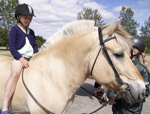 Att rida på en vacker islandshäst tackade ingen nej till.