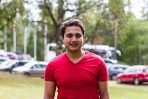 Ibrahim Afare berättar att han varit i Sverige i tio månader.