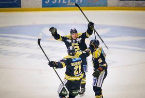 Pontus Engström efter viktiga målet mot Sundsvall.