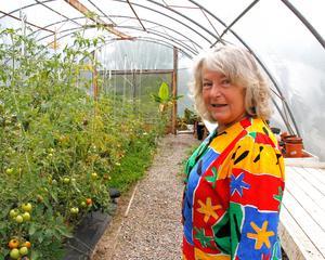 Gerd Holmboe har i flera år tampats med att bli av med mördarsniglarna, i år har de inte invaderat trädgården vilket gör henne glad.