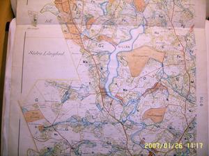 En karta över Långhed från år 1885.