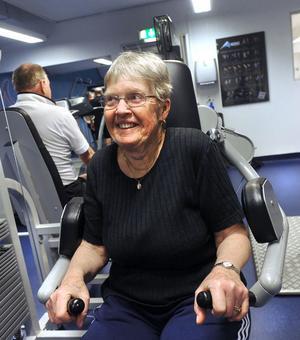Efter några års uppehåll har Birgit Hellström återupptagit sin styrketräning. Och den här gången tänker hon hålla i.