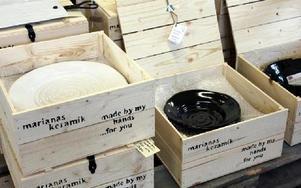 Marianas keramik, en av formgivarna som har ett samarbete med Norrgården.