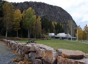 Den planerade upptäckarparken kommer ligga framför naturum vid Skuleberget.